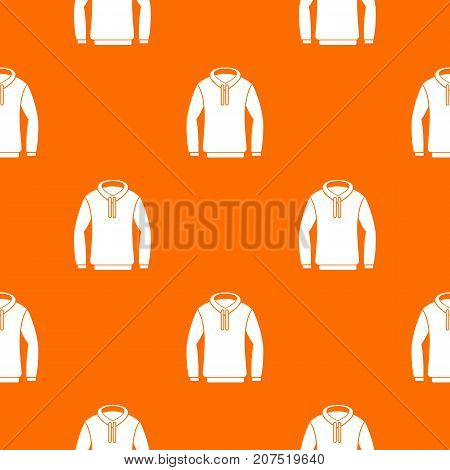 Hoody pattern repeat seamless in orange color for any design. Vector geometric illustration