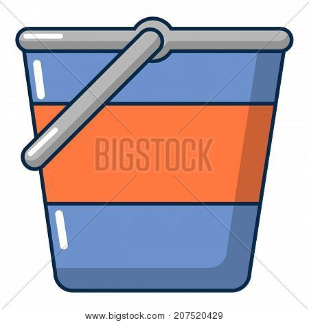 Bucket icon. Cartoon illustration of bucket vector icon for web