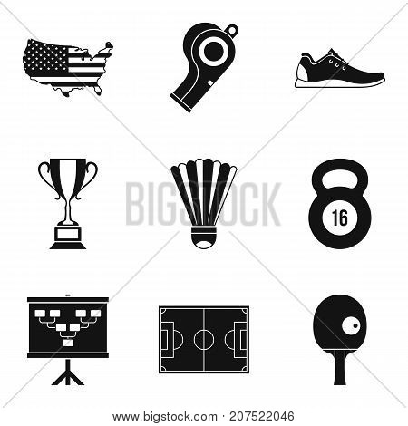 National championship icons set. Simple set of 9 national championship vector icons for web isolated on white background