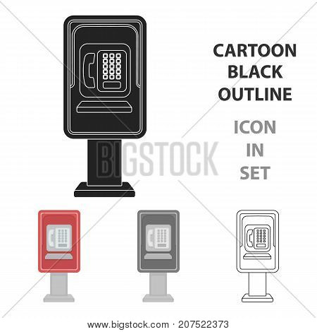 Payphone icon in cartoon style isolated on white background. Park symbol vector illustration.