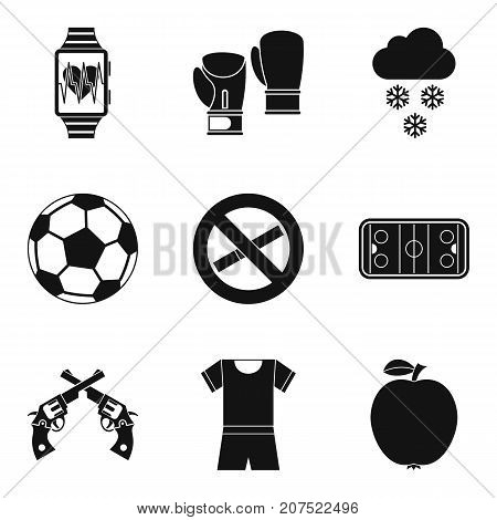 Best of the best icons set. Simple set of 9 best of the best vector icons for web isolated on white background