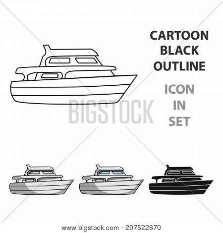 Recreational marine boat.Boat for a family holiday.Ship and water transport single icon in cartoon style vector symbol stock web illustration.