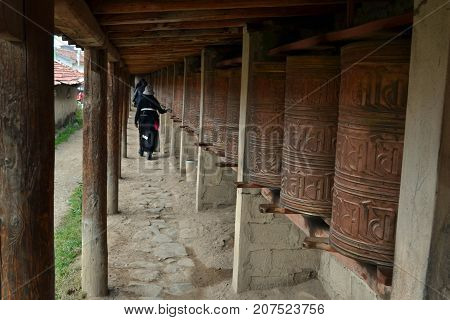 The Life Around Taktsa Temple In Zoige. Lucky That This Place Is Rarely Visited By Tourists! Pic Was
