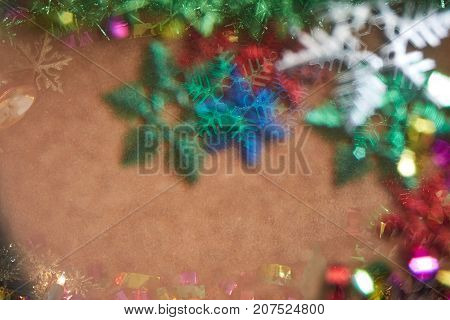 Blur Christmas Tree With Abstract Style