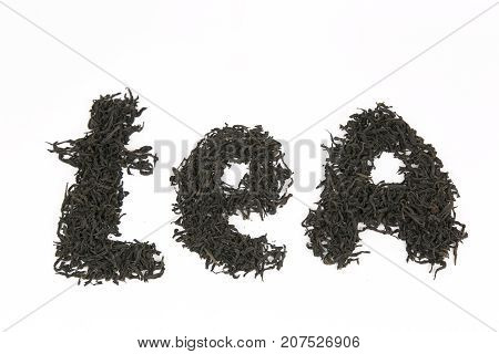 The Word Tea On White Background