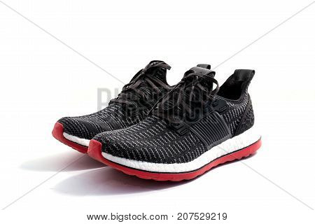 Sports shoes on a white background .