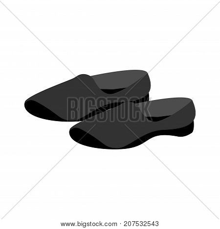 Chinese Slippers For Wushu. Sports Shoes. Vector Illustration