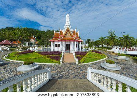 This Landmark building is City pillar of Phetchaburi province Thailand. (Worship place)
