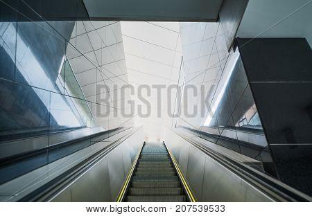 Austria Vienna the modern escalator that rises to the Albertina monumental complex