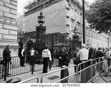 Downing Street In London Black And White