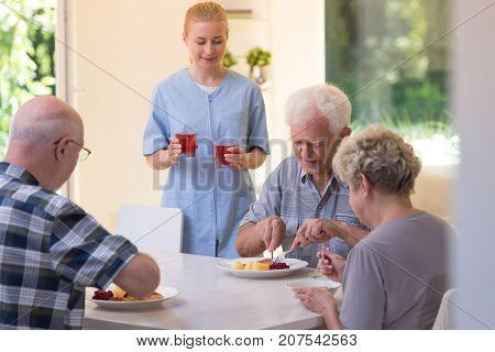 Seniors During Dinner
