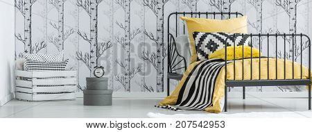 Contrast Color Forest Bedroom