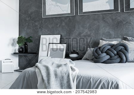 Bright Bedsheets On King-size Bed