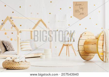 Kid's Bedroom With Diy Bed