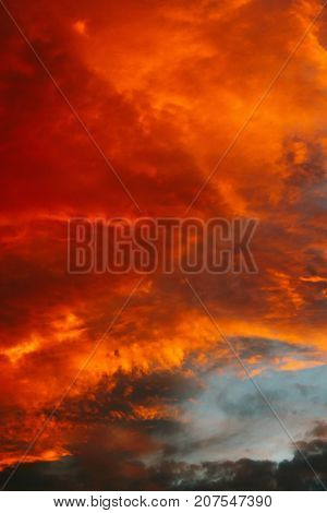 Red Sunset Clouds