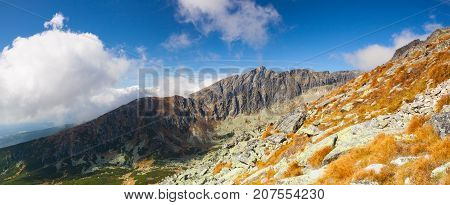 View from the top of the mountain (Predne Solisko) in the High Tatras Slovakia