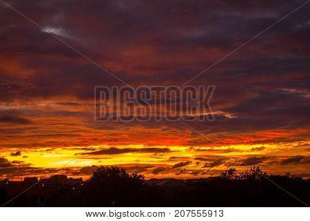 Twilight sky. Dark sky. sunset or sunrise. Landscape background.