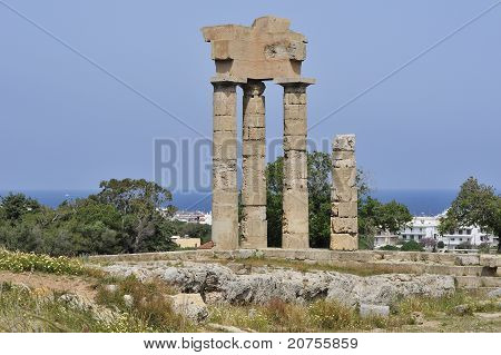 temple in rhodes