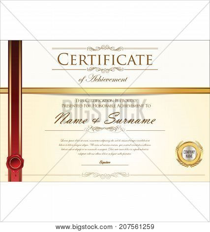 Certificate Or Diploma Retro Design Vector Template 4.eps