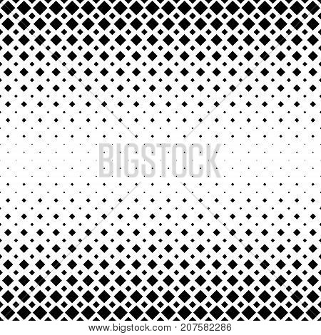 Black and white abstract square pattern background - monochromatic geometrical vector graphic design from diagonal squares