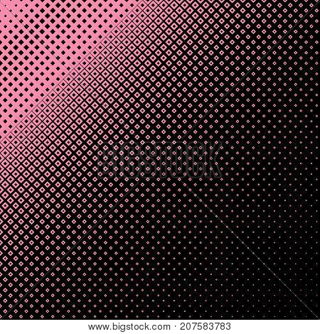 Abstract geometrical halftone square pattern background - vector design from squares in varying sizes