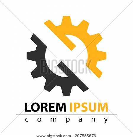 Manufacture, construction, factory manufactory - flat icon Vector eps 10