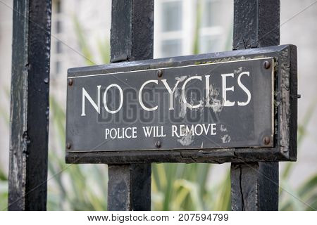 London 28th September 2017:-Signs on the railings of Portcullis House part of the Parlimentary Estate