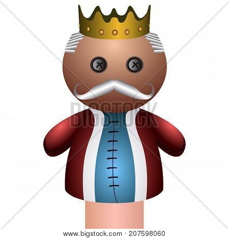 Isolated King Puppet
