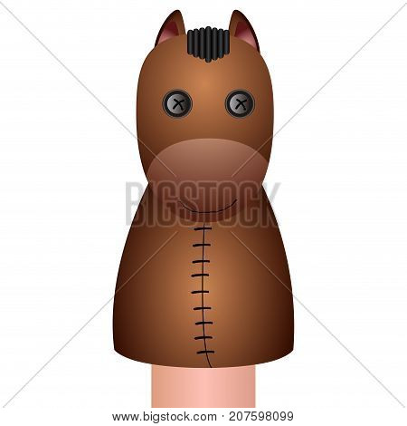 Isolated Horse Puppet