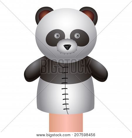 Isolated Panda Puppet