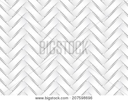 Vector Seamless Pattern Of White Interweaving Paper Strips.