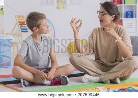 Psychologist And Young Patient