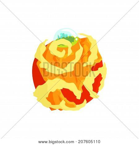 Venus planet of the Solar System cartoon vector Illustration isolated on a white background
