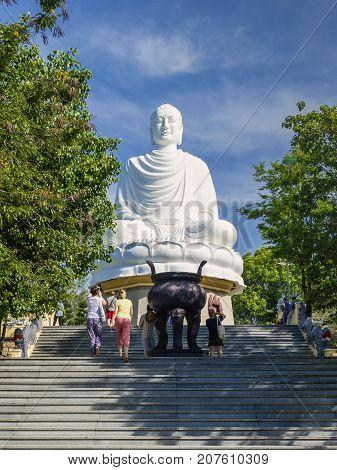 Buddha: Buddha statue Long Shaun pagoda Nha Trang Vietnam architecture sights statue Long Shaun pagoda