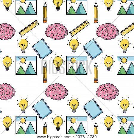 school tool education backgroun design vector illustration