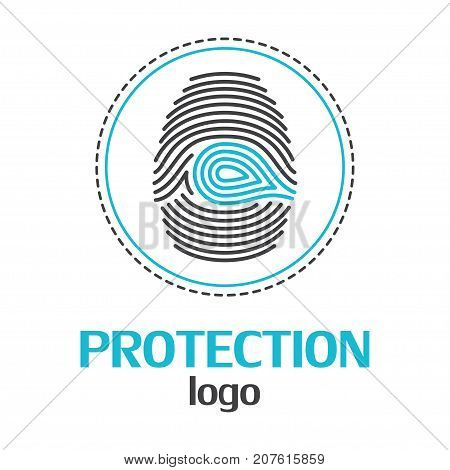 Protection logo template on a white background. Vector Illustrator Eps10
