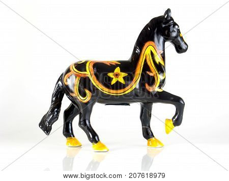 penny bank horse isolated on white background