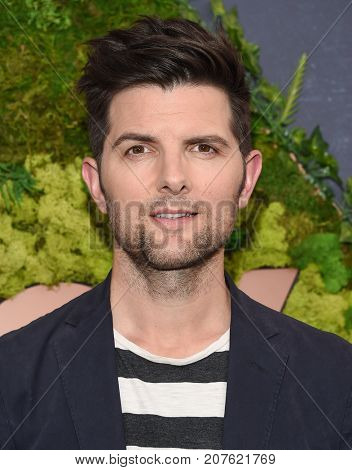 LOS ANGELES - SEP 25:  Adam Scott arrives for the FOX Fall Party on September 25, 2017 in West Hollywood, CA