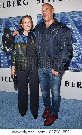 LOS ANGELES - SEP 26:  Vin Diesel and Delora Sherleen arrives for the HBO's premiere of 'Spielberg' on September 26, 2017 in Hollywood, CA