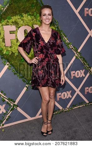 LOS ANGELES - SEP 25:  Amy Acker arrives for the FOX Fall Party on September 25, 2017 in West Hollywood, CA