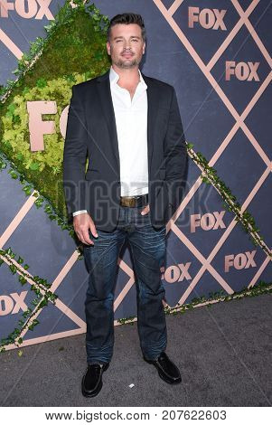 LOS ANGELES - SEP 25:  Tom Welling arrives for the FOX Fall Party on September 25, 2017 in West Hollywood, CA