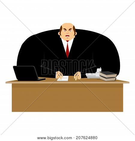 Big Boss Angry. Great Boss Is Wicked. Business Vector Illustration