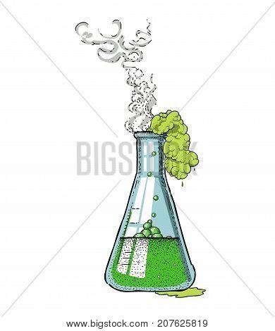 Chemicals hand drawn image. Original colorful artwork, comic childish style drawing.