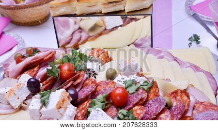 image of a well decorated Catering food buffet