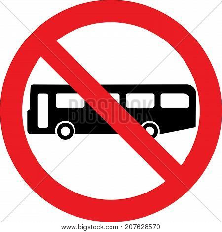 No bus allowed sign on a white background