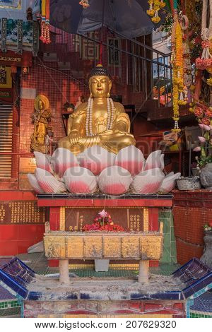 Colorful God Statues Are Located At The Repulse Bay Is A Quaint Taoist Temple Which Is Popular For I
