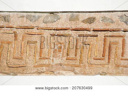 A fragment of ancient masonry church in Chernigov. Ukraine