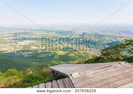 Paragliding platform view from above. Paragliding extreme sports