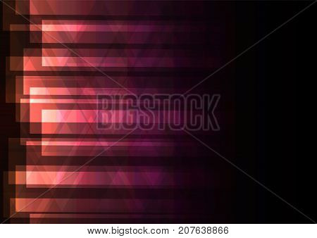 orange pink triangle and square bar overlap background ,geometric digital colorful color template, vector illustration