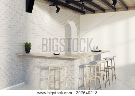Modern Kitchen And A Dining Room, Side